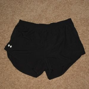 Under Armour Womens Large Heat Gear Black Shorts